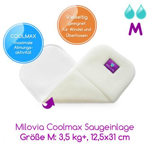 NEU Milovia Coolmax Saugeinlagen Stoffwindeln Einlagen Windeleinlage Windeln