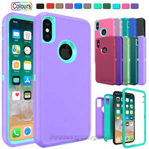 For Apple iPhone X XR XS Max 10 Shockproof Protective Rugged Hard Cover Case