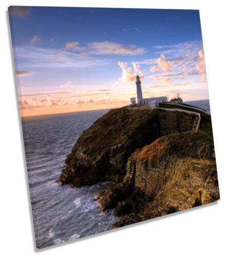 South Pile phare Wales Carré Toile Wall Art Imprimé Photo