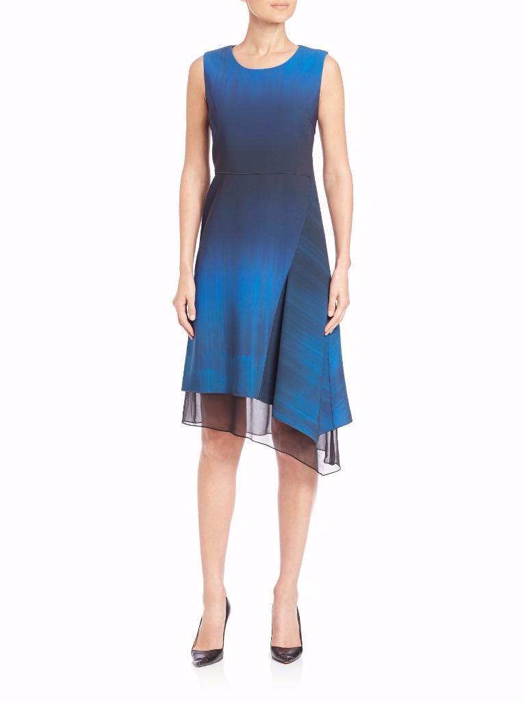 NWT ELIE TAHARI CLARISSA DRESS  SIZE  14 14 14  COLOR  BORA BORA blueE  77% OFF  a0d67e