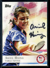 Ariel Hsing signed autographed 2012 Toppps Olympic team AUTO #75 Table Tennis