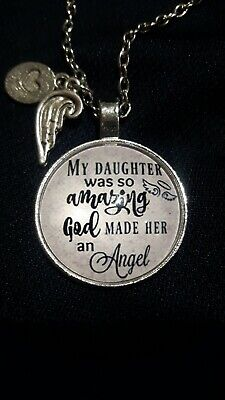 My Daughter was so amazing God made her an angel,Memorial Daughter Necklace