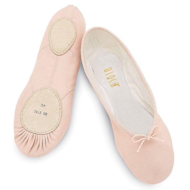 Bloch Prolite II Canvas pink split sole ballet pump child size 13