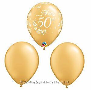 Image Is Loading 30 Happy 50th Birthday Anniversary Golden Wedding Helium