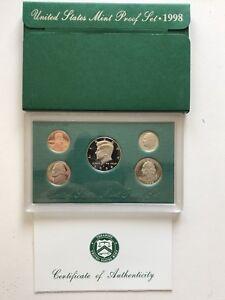 USA-1998-Proof-Set-San-Francisco-Original-Box-PP-pollierte-Platte-1c-50c