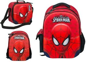 Amazing-3D-Ultimate-Spiderman-Backpack-Rucksack-Lunch-Bag-Kids-School-Nursery