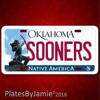 Oklahoma Sooners Football 100% Aluminum Vanity License Plate Tag Brand