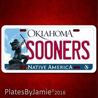 Oklahoma Sooners Football 100% Aluminum Vanity License Plate Tag Brand
