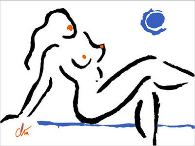 JACQUELINE DITT Bo.Original Druck Grafik signiert Oder schläft sie gar nicht