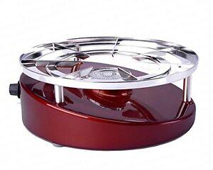 KISAG PROTECTION gaz Poêle/Wok Cuisinière Portable élégant Puissant Couleur Rouge 25 cm  </span>