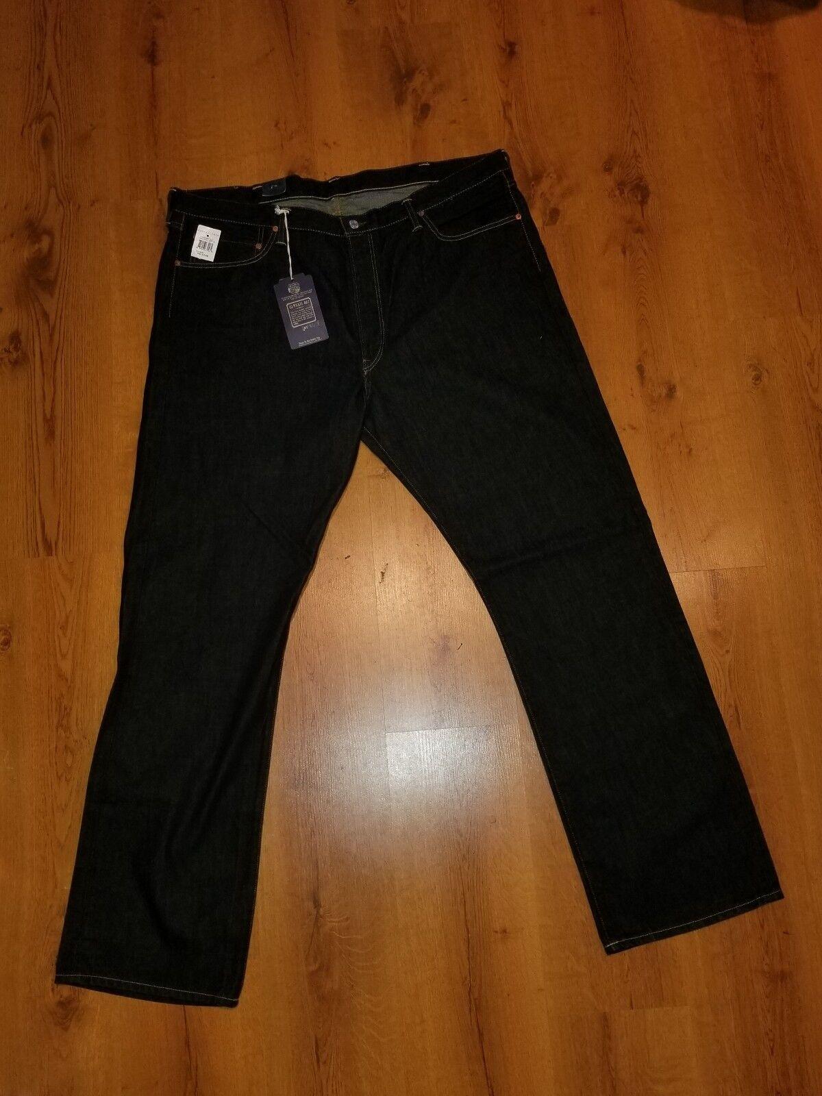 Big & Tall Ralph Lauren Riverside Jeans Classic 867 bluee Straight Leg  44T X 36