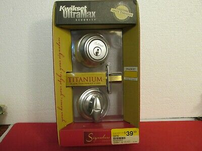 Kwikset UltraMax Titanium Alloy ANSI Grade 1 Double Cylinder Deadbolt