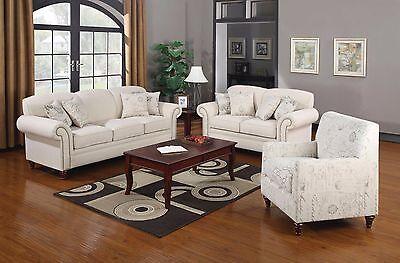 Norah Shabby Chic Off White Antique Inspired Living Room Sofa Loveseat Chair