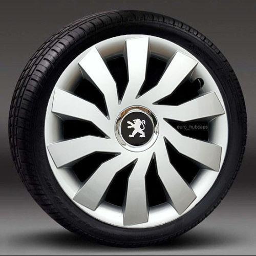 "cubre para Peugeot 307//308 Adornos de Plata 15/"" rueda cantidad 4 Tapacubos"