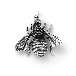 Sterling-Silver-Bumble-Bee-Honey-Bee-Pendant-Jewelry-Taxco-Mexico