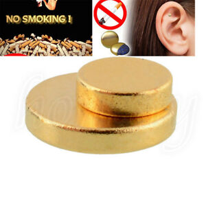 4x Quit Stop Smoking Auricular Ear Magnet Therapy Smoke Weight Loss