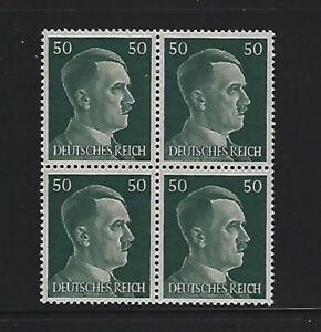 MNH-Adolph-Hitler-stamp-block-1941-PF50-Original-Third-Reich-Germany-Block