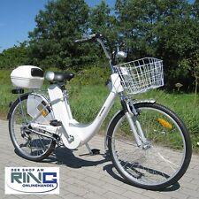 """Elektrofahrrad 26"""" E-Bike 250 W Elektro Fahrrad Pedelec City Bike Alu Rad silber"""