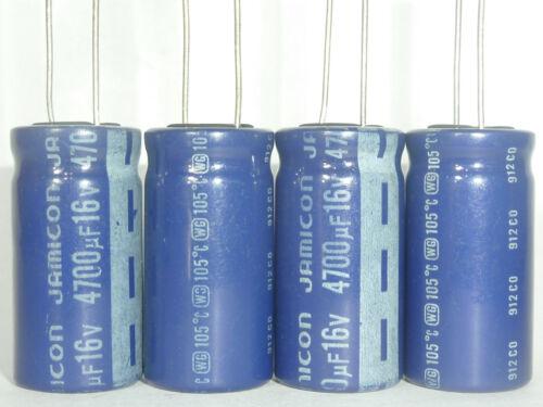 3pcs 4700uF 16V JAMICON WG 16x31.5mm 16V4700uF Low ESR Long Life Capacitor