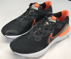 NIKE-MENS-RENEW-RUN-BLACK-TOTAL-ORANGE-SHOES-Sizes-11-amp-12-CK6357001