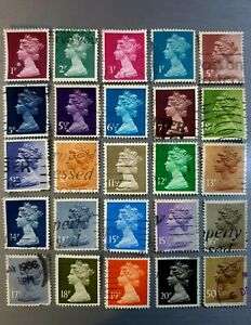 Queen-Elizabeth-II-Postage-Stamps-Lot-of-25-Fine-Used
