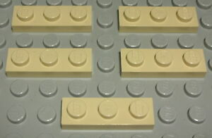 Lego Platte 1x3 Beige 5 Stück 768