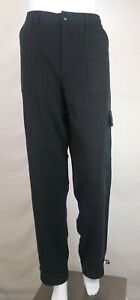 Bobbie Fit Baggy Pants Burns Cargo Waist 34 Black Silk Nwot Loose rr8gq4zn