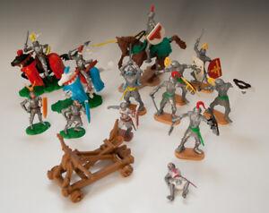 KONVOLUT-14-x-ELASTOLIN-und-Cherilea-toys-Plasty-wohl-70er-Jahre