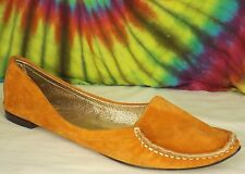 size 9 orange suede leather DOLCE VITA flats slip-on loafers shoes