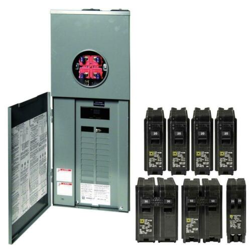 Square D 200 Amp Load Center Main Breaker Panel Meter 40-Circuit 20-Space New