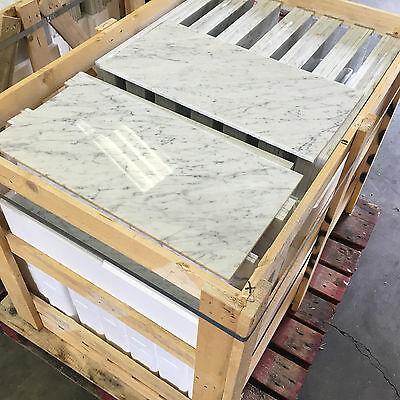 25m2 JOBLOT FOR  2012jose425  Bianco Carrara White Polished Marble Tile