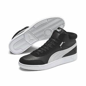 Puma Unisex Court Legend Shoes Trainers mid Cut 371119 Black White ...