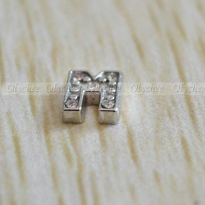 NEW 1p Initial Letter M Floating Locket Charms For Living Memory Floating Locket