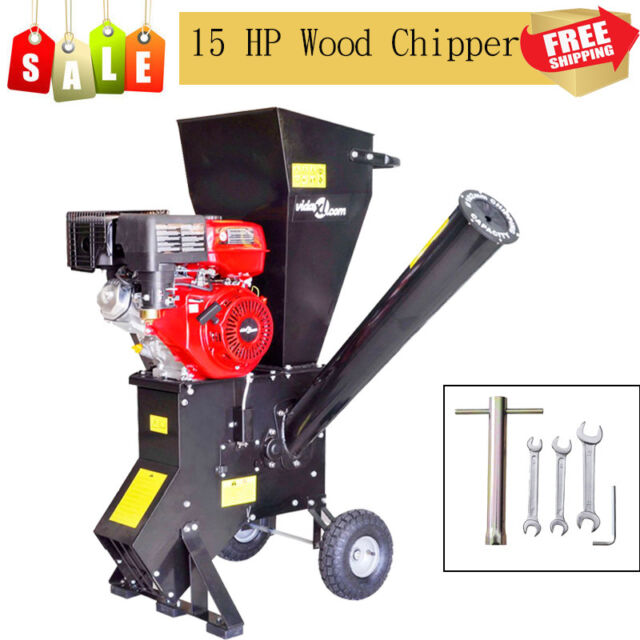 15 HP Motor 420 cc 2400 rpm Petrol-powered Wood Chipper Shredder for Gardening