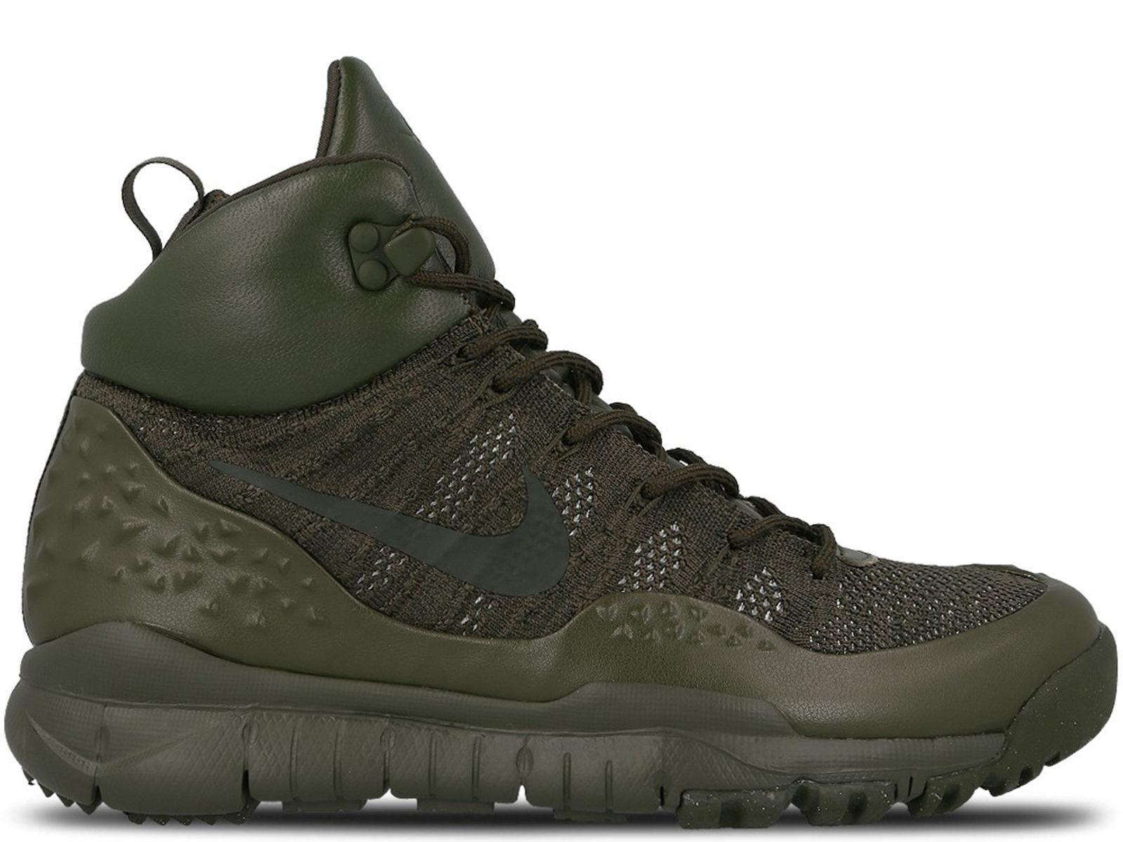 Nike Lupinek Flyknit Cargo Khaki Men's Size 11 Sneaker Boot 862505-300 NEW  250