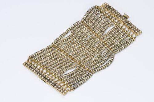 VALENTINO Garavani Couture 1980's Wide Gold Tone C