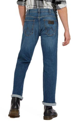 Wrangler Mens Jacksville Regular Bootcut Stretch Jeans Boot Leg Denim Green Haze