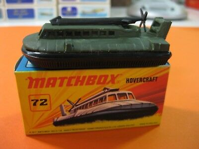 Modesto Vintage 60/70´s Matchbox Lesney Superfast Nº72 Hovercraft Custom Militar. Essere Distribuiti In Tutto Il Mondo