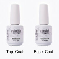 15ml  Arte Clavo Soak Off Gel Nail Polish UV LED No Wipe Top Coat  Base Coat