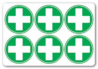 FIRST AID CROSS Square health and safety warning first aid signs Sticker 50x50mm