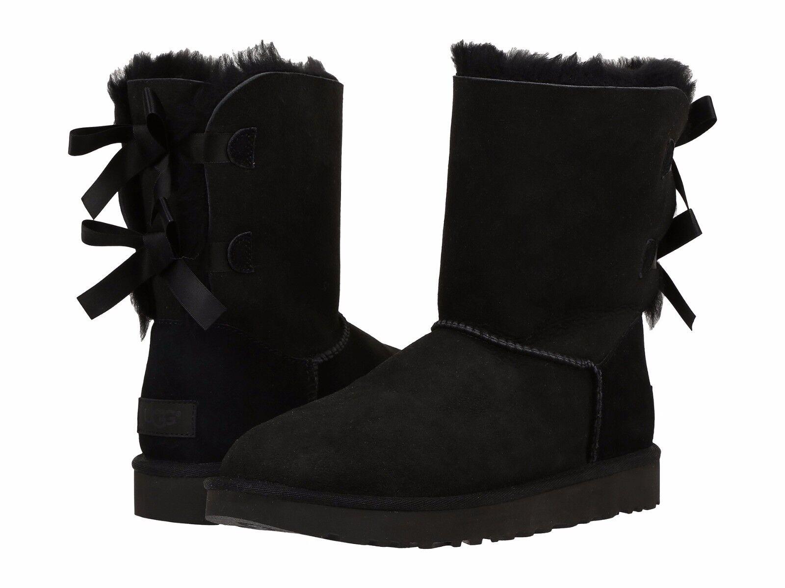 Női cipő UGG Bailey Bow II Boot 1016225 Fekete 5 6 7 8 9 10 11 * Új *