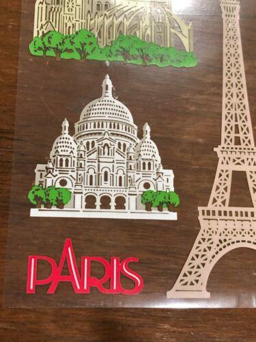 10 Mrs Grossmans Paris Stickers Travel Vacation France Eiffel Tower Notre Dame