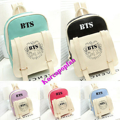 BTS Bangtan Boys BACKPACK SCHOOLBAG PU BAG JUNG KOOK JIMIN SUGA New Kpop New