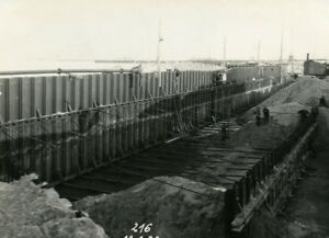 France-Port-of-Dunkirk-Dunkerque-Extension-Work-West-amp-South-Dike-Old-Photo-1932