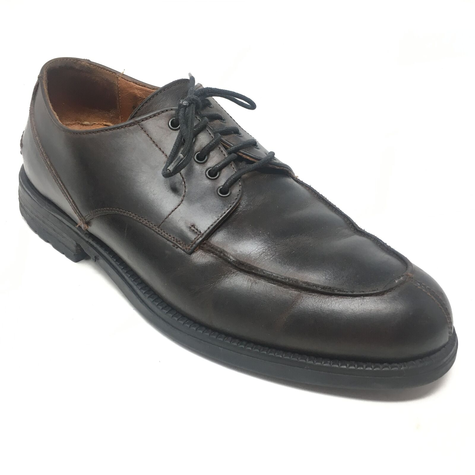 Men's Johnston & Murphy Passport Oxfords shoes Sz 9M Brown Leather Made  A6