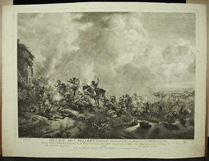 Jean-Moyreau-1690-1762-Looting-of-Soldiery-1740-Wouwerman-Cavalry-German