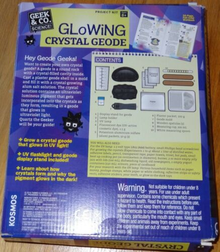 Thames /& Kosmos Glowing Crystal Geode Science Project Kit Geek /& Co