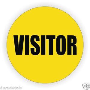Visitor Hard Hat Decal / Sticker / Vinyl Label Safety Safe Worker Visiting Visit
