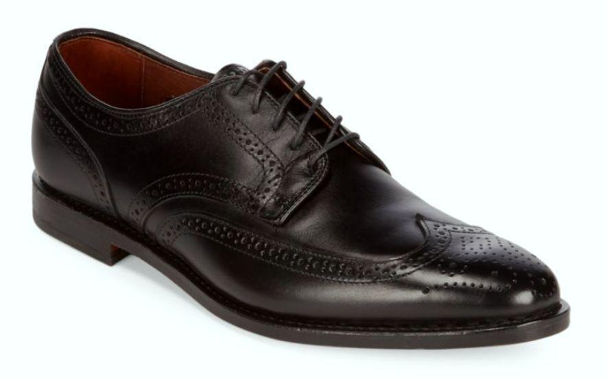 Allen Edmonds Stuttgart Wingtip Oxford Black Leather new shoes shoes 11.5 D