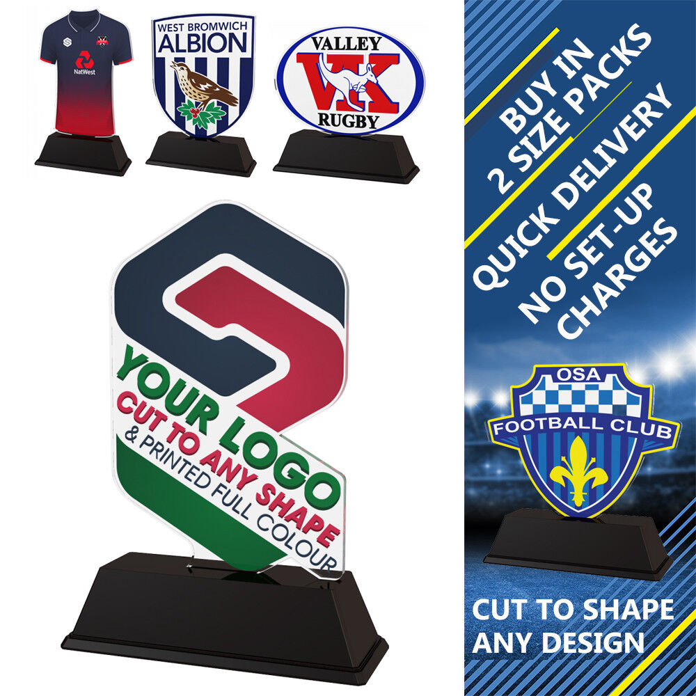 15x TEN PIN BOWLING LOGO PRINTED CUSTOM 100mm TROPHIES ACRYLIC TROPHIES 100mm FREE ENGRAVING fbe12f